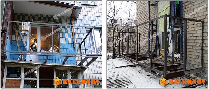 Увеличение внутреннего пространства балкона.