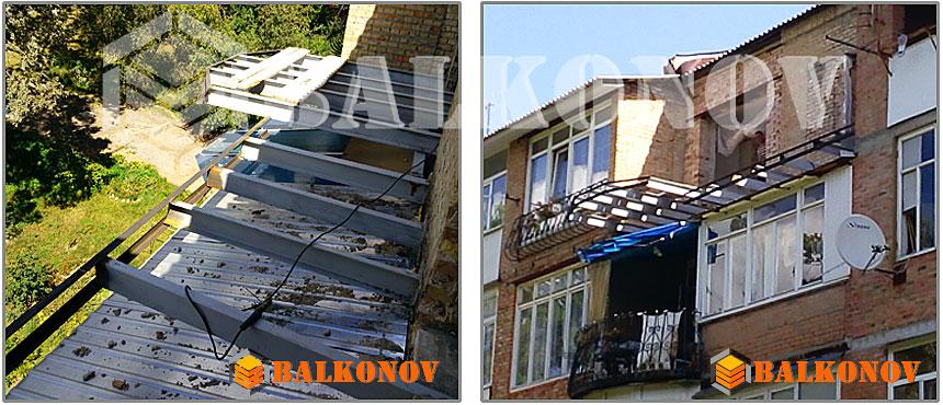 Балкон 2 в 1, как построить балкон - пристройку на балконе с.