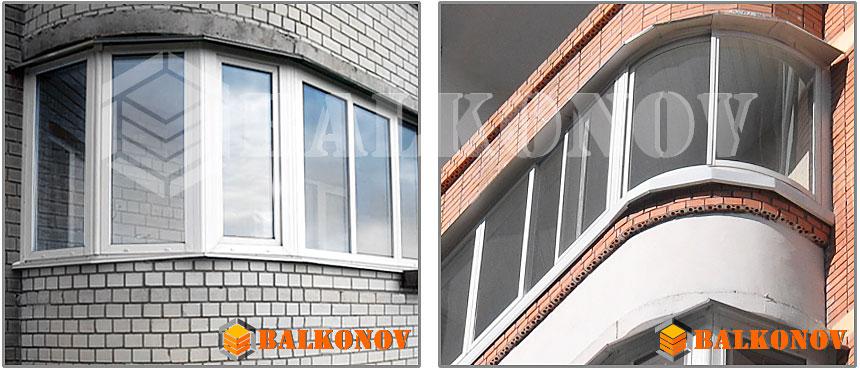 Остекление эркерного балкона или лоджии киев balkonov.