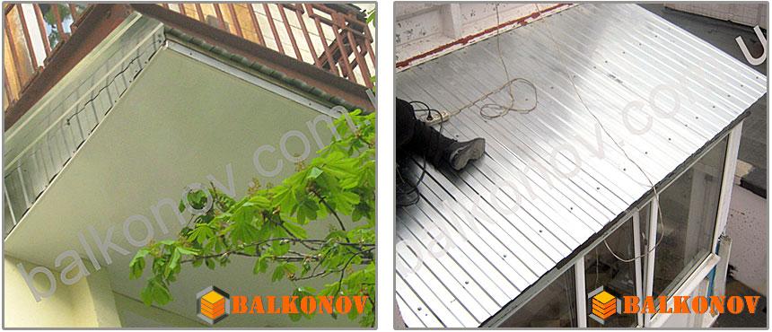 Крыша на балкон в киеве, установка, монтаж козырька балкона.